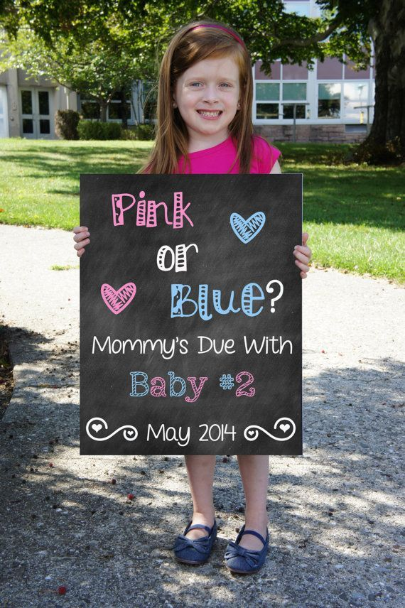 Printable Big Sister Big Brother Pregnancy Announcement Photo Prop – Big Sister Birth Announcement