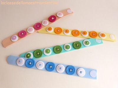 La classe della maestra Valentina: bottoni