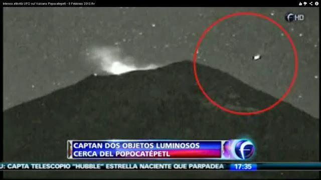 """Disso Voce Sabia?: OVNIs continuam """"enxameando"""" o Vulcão Popocatépetl e autoridades fingem que nada acontece!"""