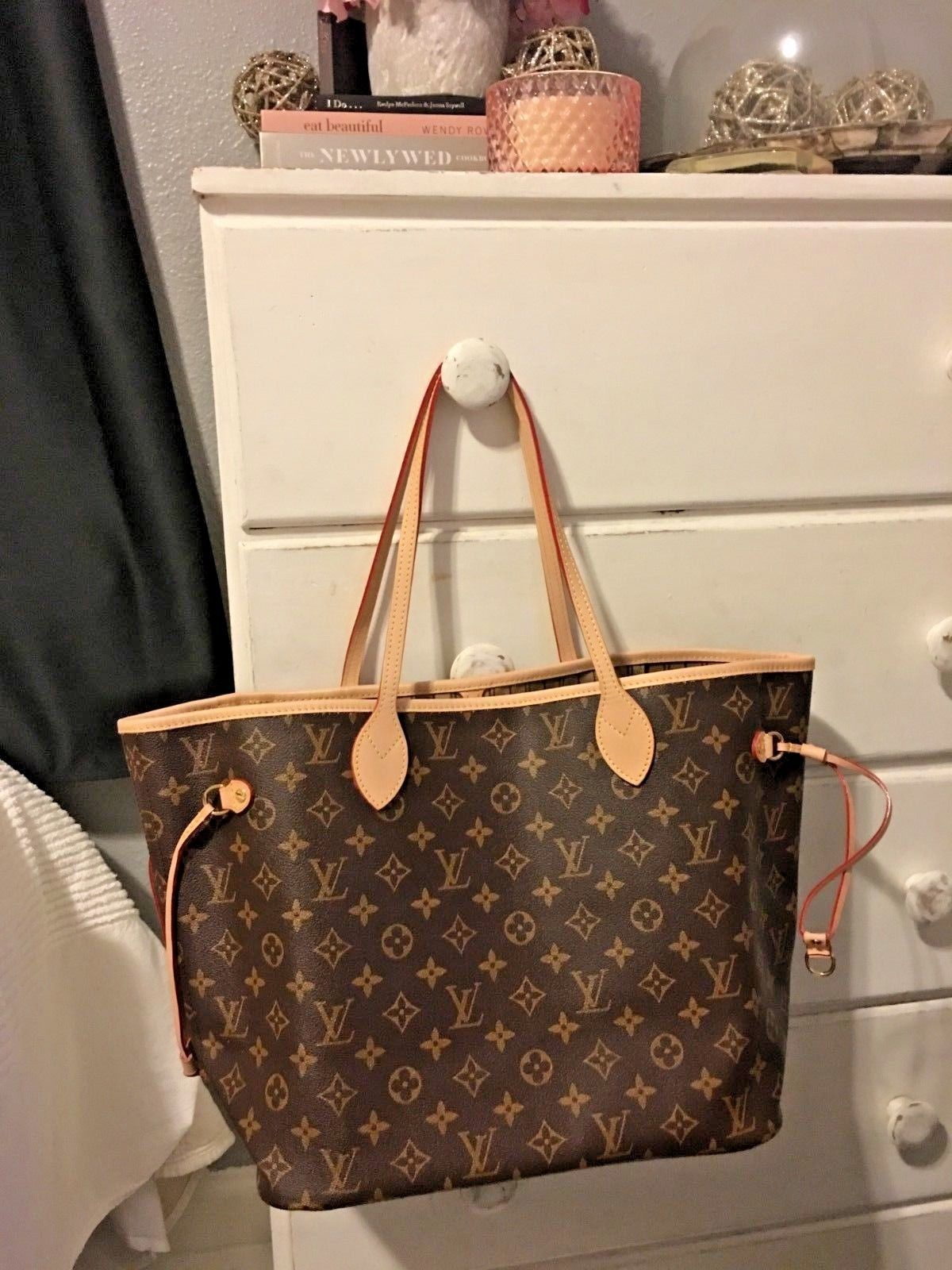 cd090d30bdbc Details about AUTHENTIC LOUIS VUITTON NEVERFULL MM SHOULDER TOTE BAG ...