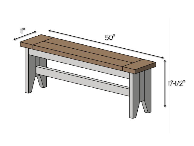 Diy Farmhouse Bench Ideas For The House Pinterest Woodworking