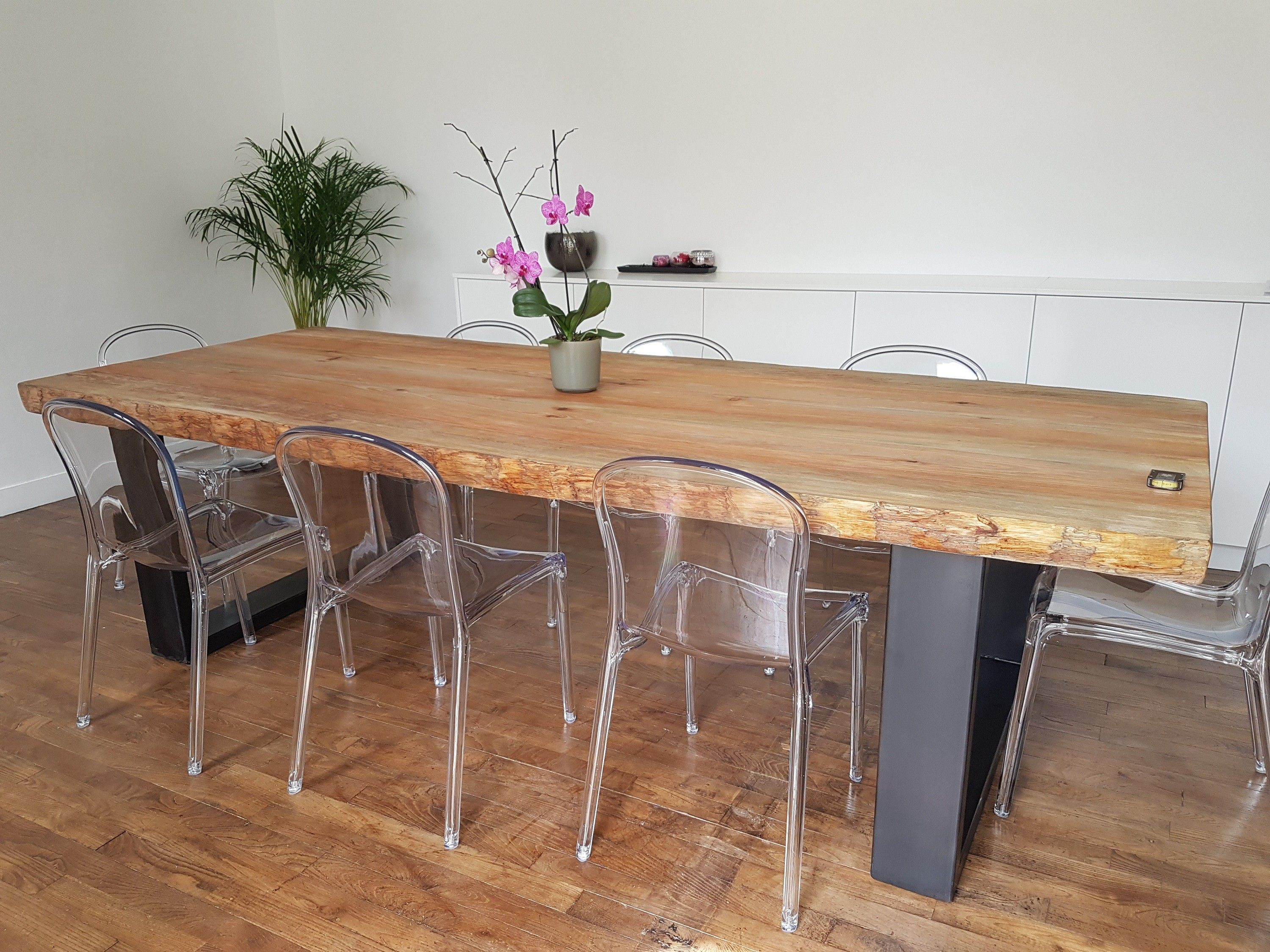 Image result for table bois salle a manger style loft | table ...