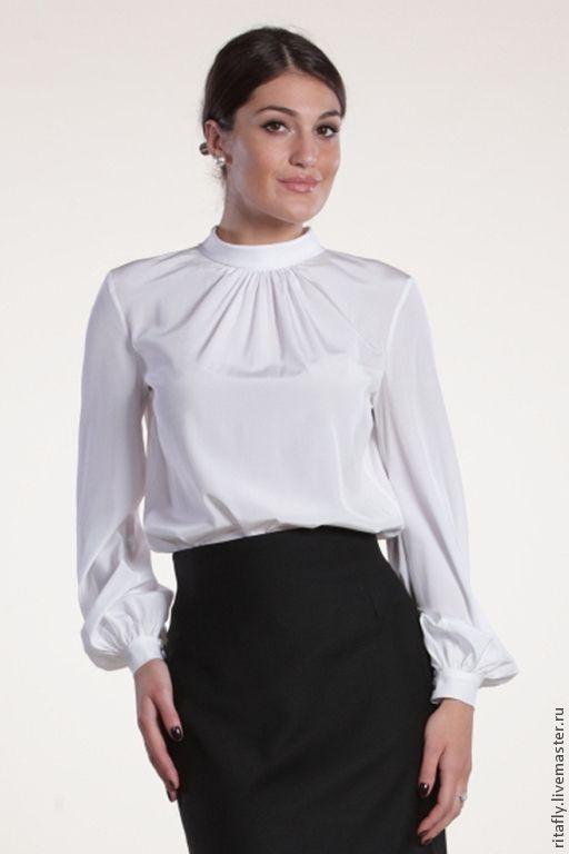 01ab1ea44aa Купить Блузка офисная Блузка шелковая - белый
