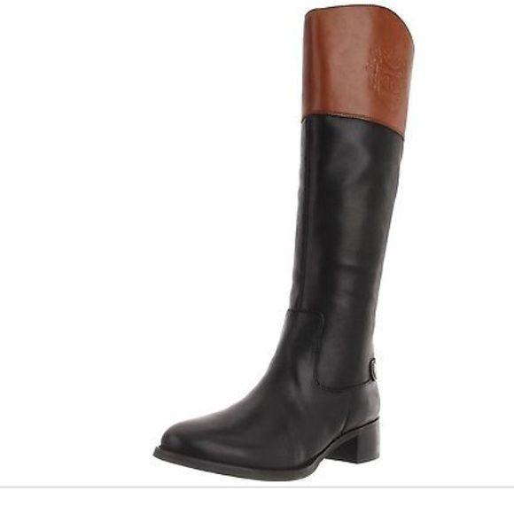 Etienne Aigner Black/Tan riding boots