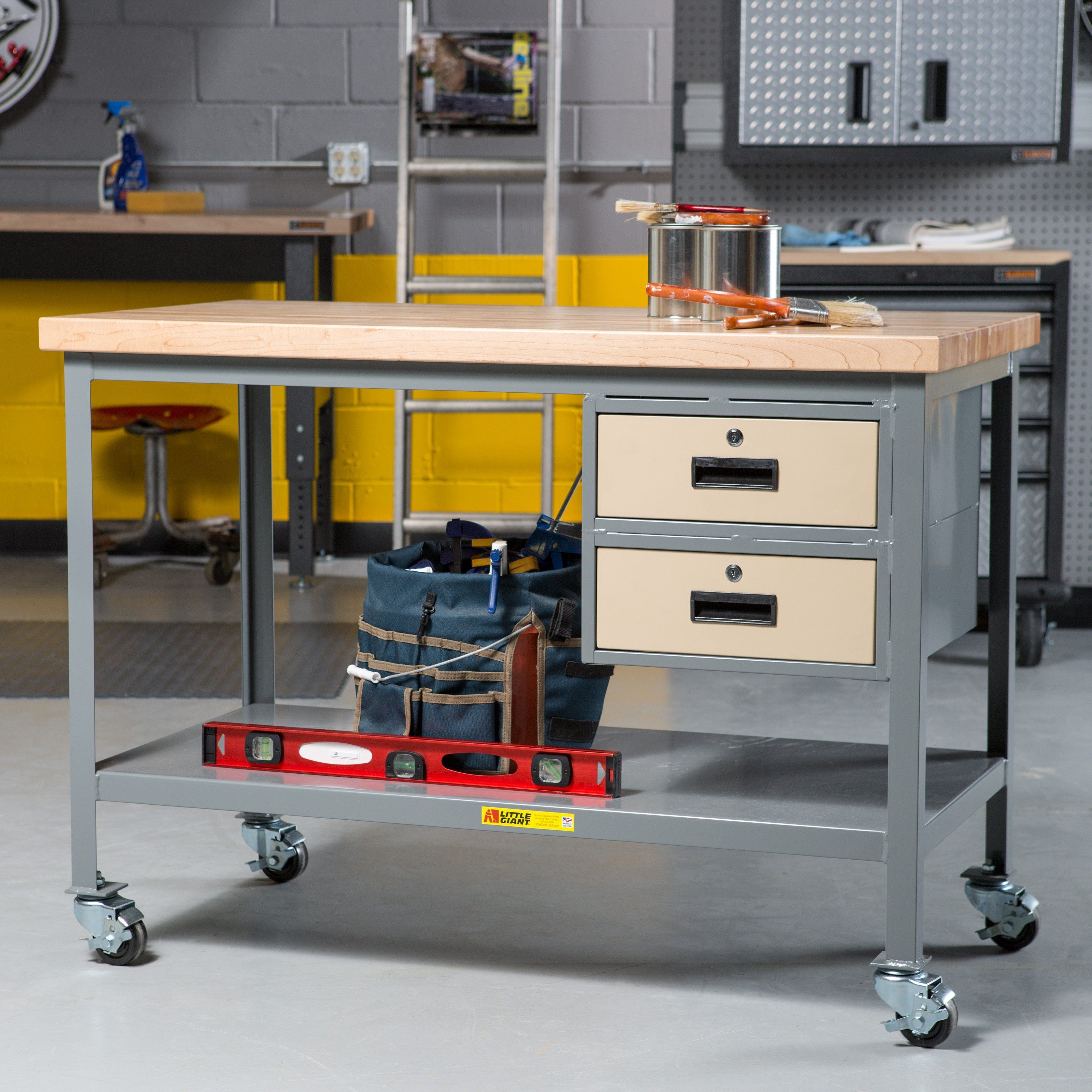 tool frame table workshop steel with boar bench storage dp peg w and com work drawers workbench drawer amazon