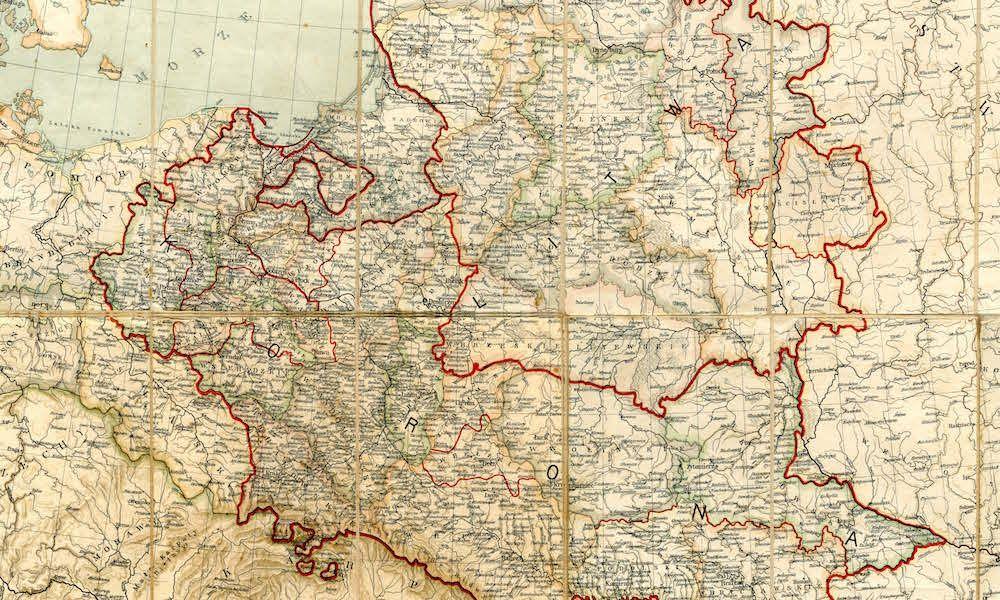 Szczegolowa Mapa Polski Z 1771 Roku Mapa Polska