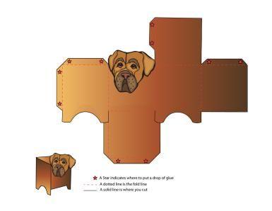 Paper Dog to Print and Make