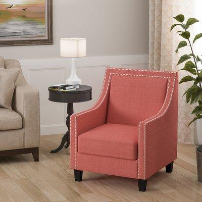 Willa Arlo Interiors Aubine Armchair Upholstery: Coral | Armchairs ...