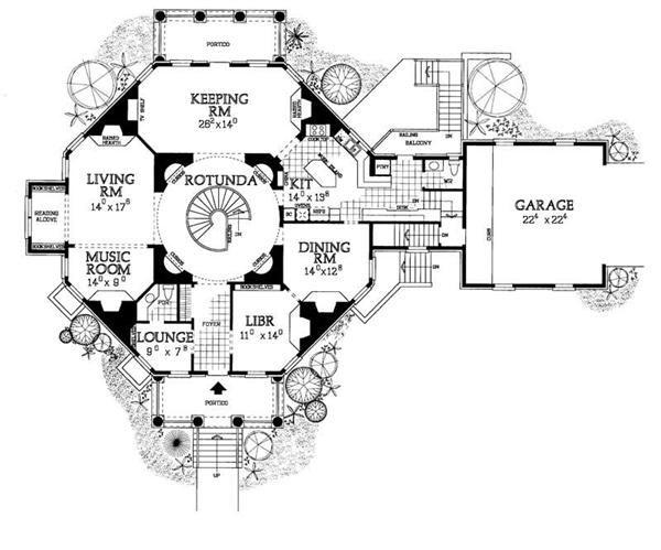 Victorian House Plans Home Design Hw 3509 18315 Victorian House Plans House Plans Octagon House