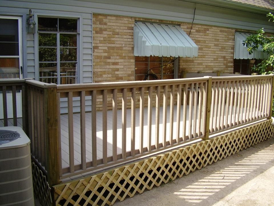 Install Lattice Under Deck Google Search Deck Balcony Railing Deck Railings