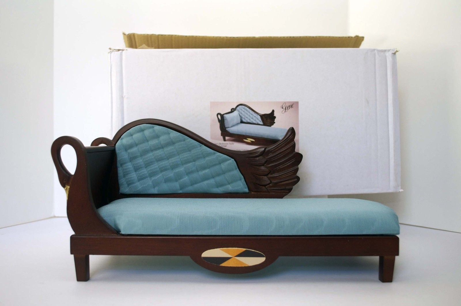 Möbel Marshall gene marshall doll blue swan bed chaise lounge furniture ashton