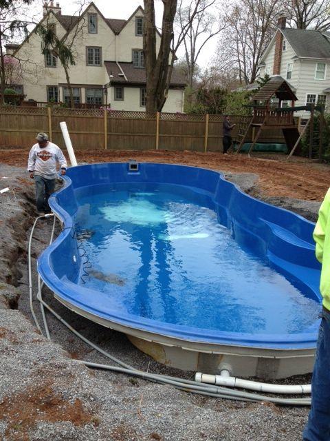 Pin On Fiberglass Pool Install 6