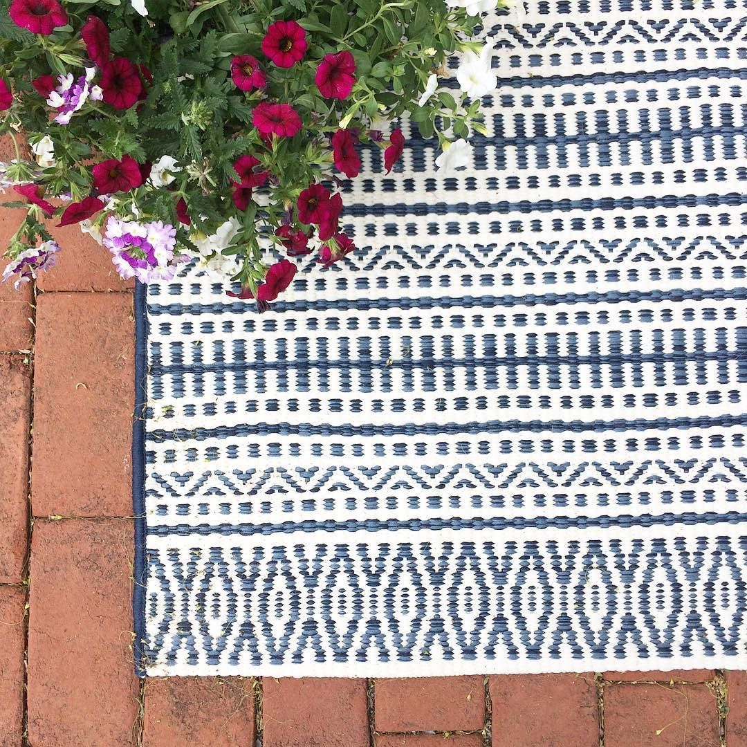 Outdoor Rug - Pattern Stripe Blue - Threshold™ : Target | Decor ...
