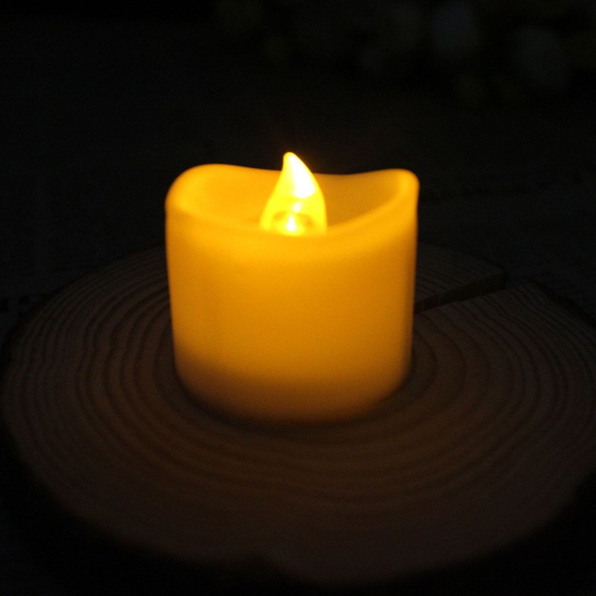 Pcs battery operated flameless votive flickering led candles tea