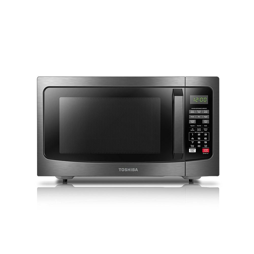Toshiba 1 2 Cu Ft Black Stainless Steel Countertop Microwave
