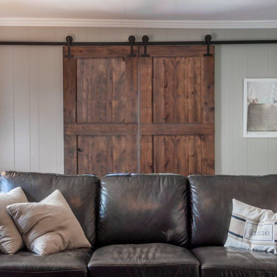 10 Tips For Small Dining Rooms 28 Pics: Barn Door Batten And Board Constructed From Knotty Alder
