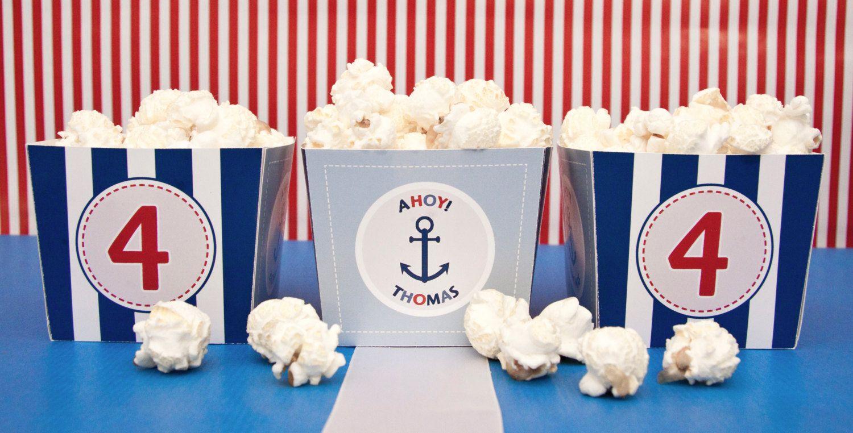 Nautical - Candy Box - Birthday Boy - Custom Printable - psDre Party Printables. €4,50, via Etsy.