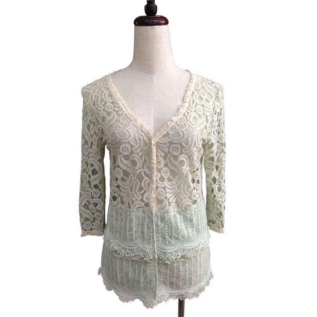 Blue, lace Cardigan | Products