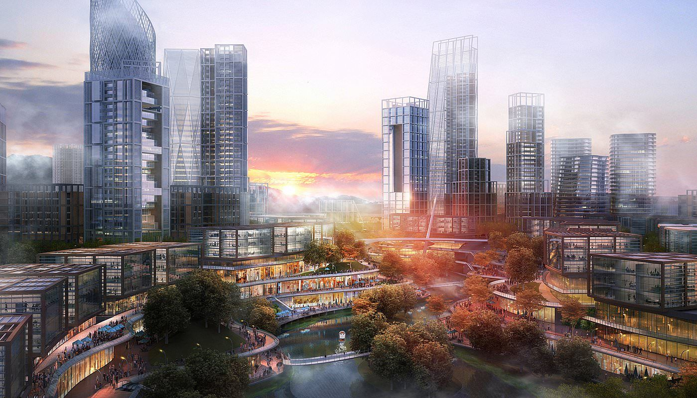 Located in Bishan, 35 kilometers west of the center of Chongqing, this master plan leverages the dramatic natural setting and encourages a retail and commercial core that will be at the heart of the city's growth. Nestled between mountain ridges in the foggy Jialing river basin, this new central business district will feature a central waterfront and a carefully engineered topography to maximize ecological sustainability, while celebrating Chongqing's unique cultural identity built on…