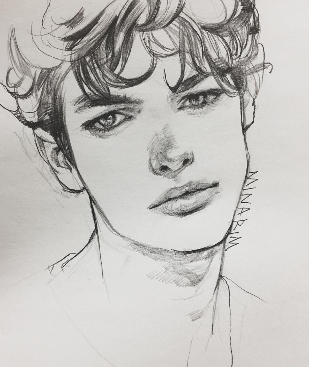 No photo description available. #artdrawingssketches | Cute drawings of  people, Art drawings beautiful, Pencil art drawings