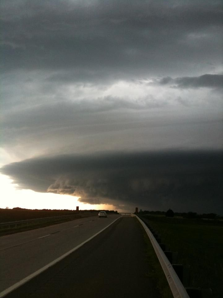 Cell phone pic from one of the first storms I ever chased back in 2007