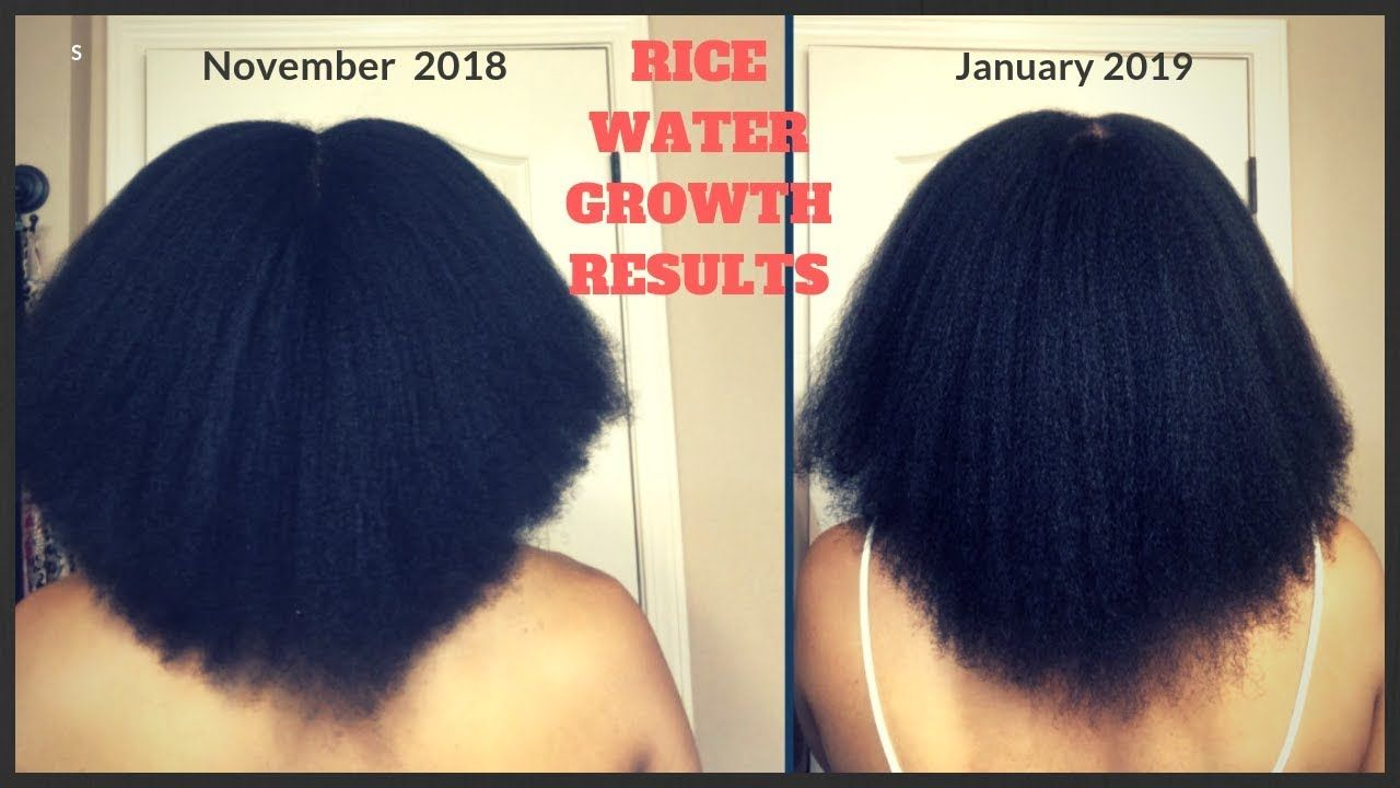 How I Grew My Hair In Only 2 Weeks With Rice Water Youtube How To Grow Natural Hair Hair Growth Black Women Black Hair Growth