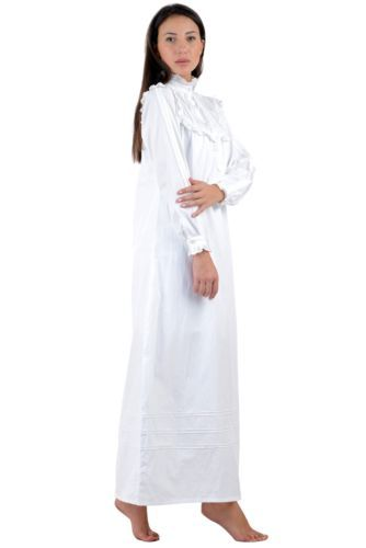 81d76d1658 Cotton-Lane-White-Cotton-Victorian-Vintage-Nightdress-G48WT-Sizes-UK-8-to-34