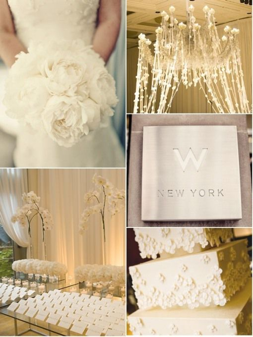 gold and white inspiration board