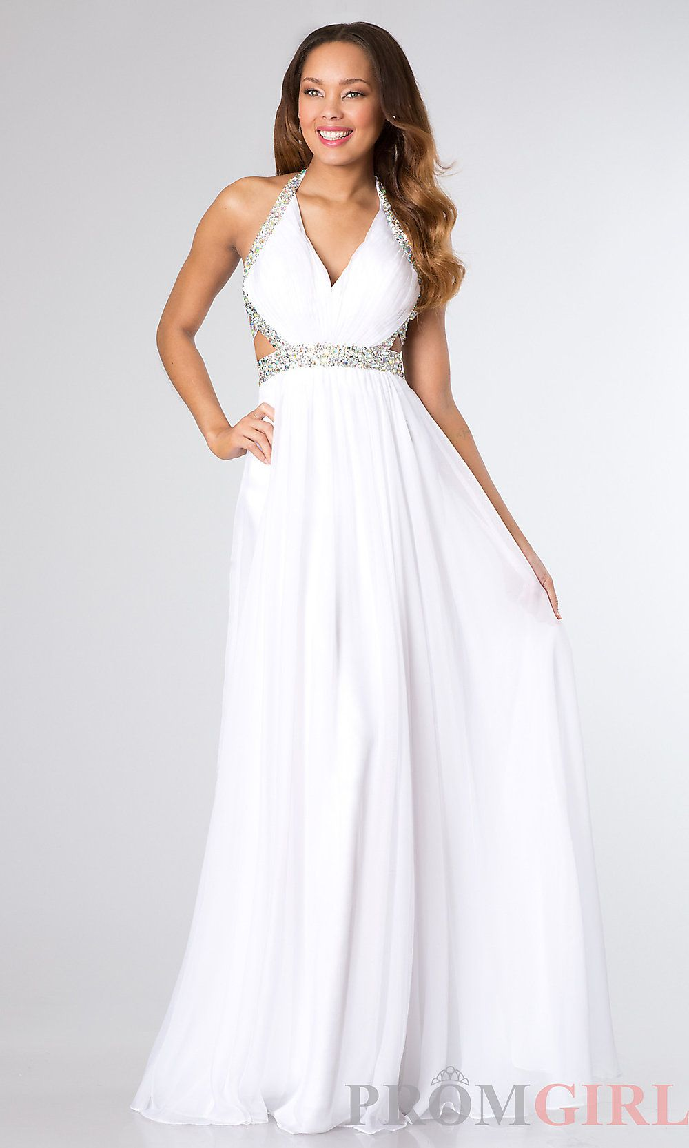 Long Cut Out Prom Dresses Long Halter Gowns for Prom PromGirl