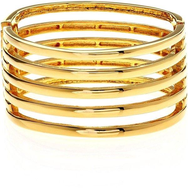 Kenneth Jay Lane Braid Design Cuff Bracelet Gold QNXC7dLcB