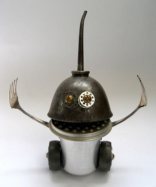 Gem - Robot Assemblage Sculpture by Brian Marshall by adopt-a-bot, via Flickr