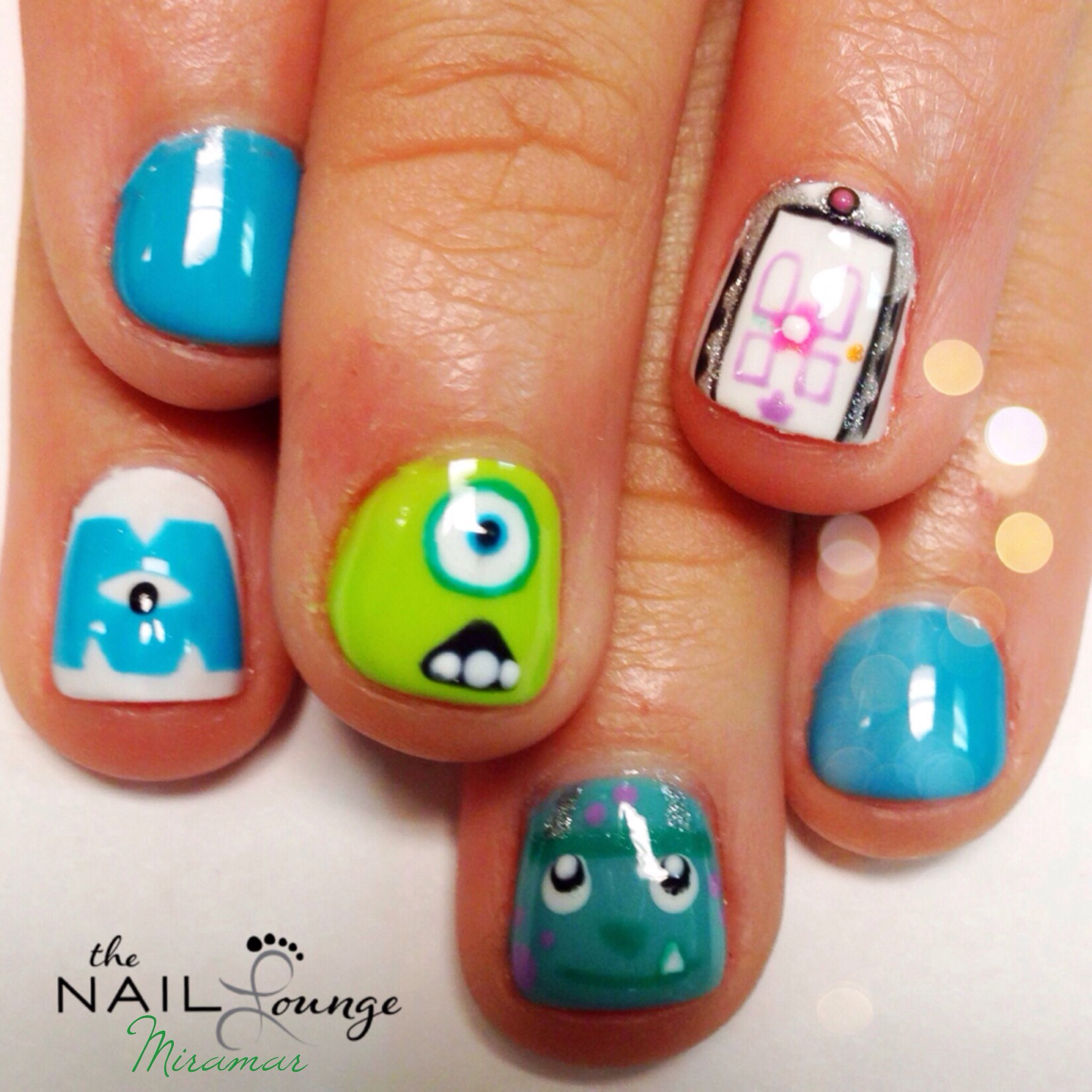 Monsters inc nail art   Nail Art   Pinterest