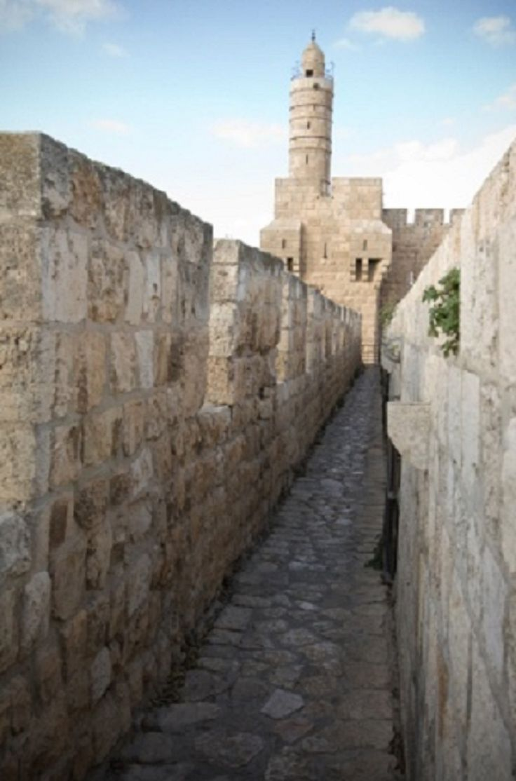 Tower of David, once a Citadel, today a Museum. Old City of Jerusalem, ISRAEL