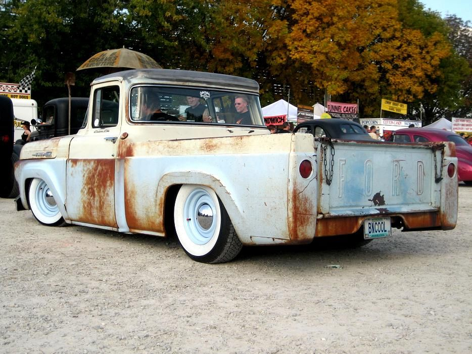 Kustom hot rod trucks | Ford F-100 60, Rat Rod.