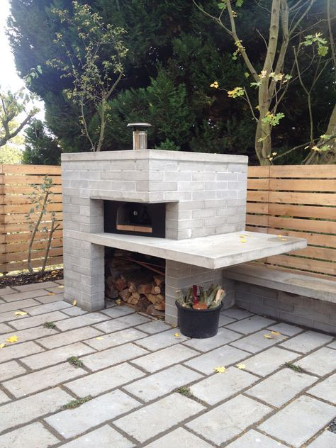 OUTDOOR PIZZA OVEN AND GARAGE ALMOST FINISHED - SHED BLOG | Backyard ...