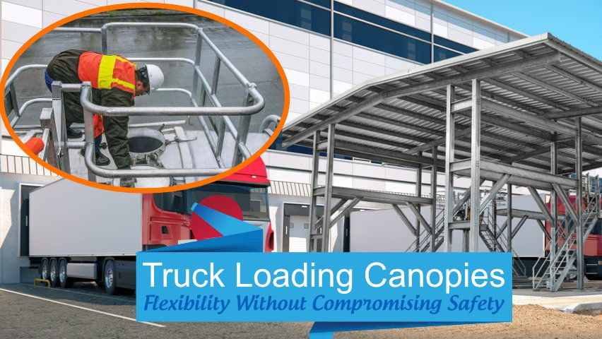 How Canopy For Trucks Ensures Safer Truck Loading Operations In 2020 Truck Canopy Canopy Heavy Truck