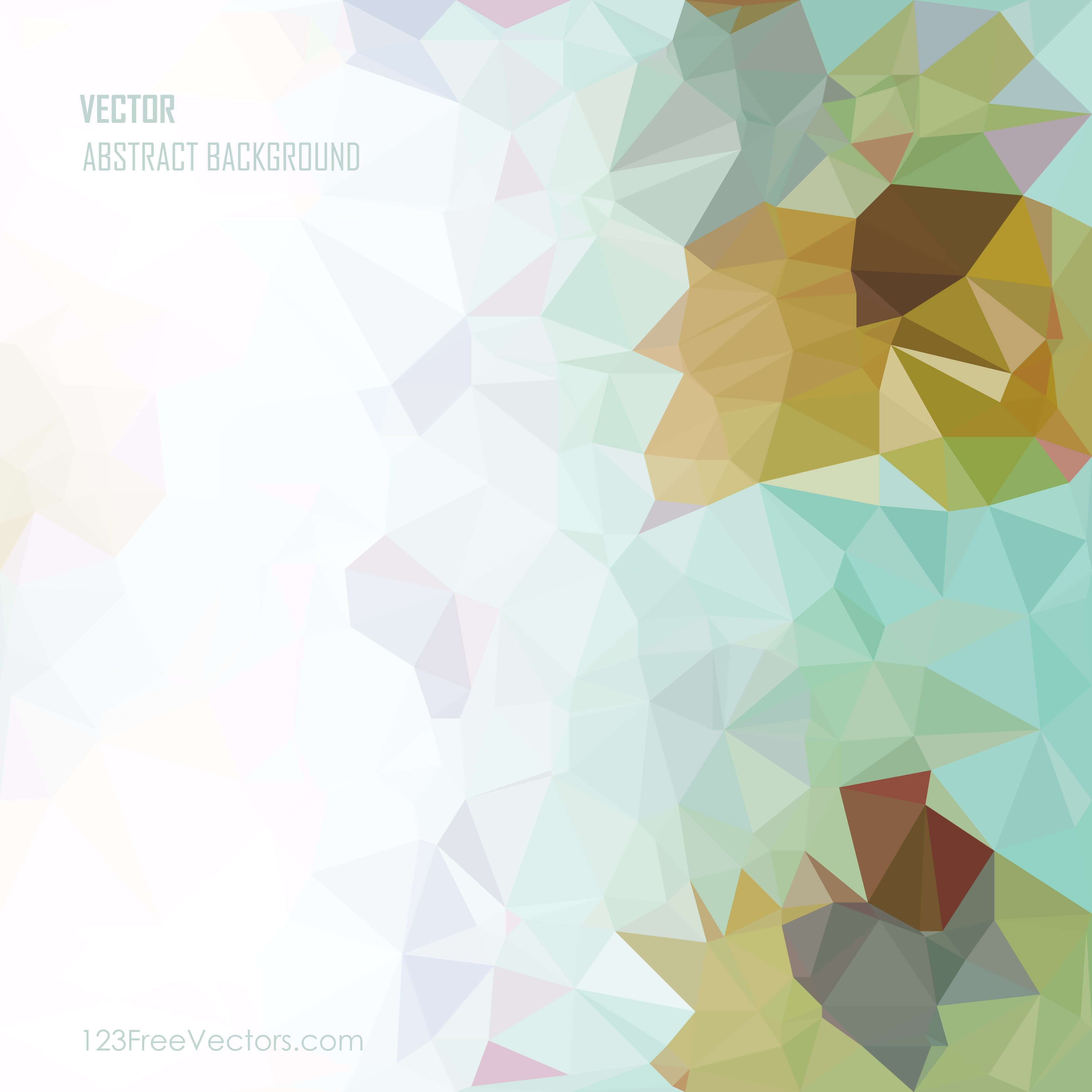 Colorful Abstract Geometric Polygon Background Illustrator