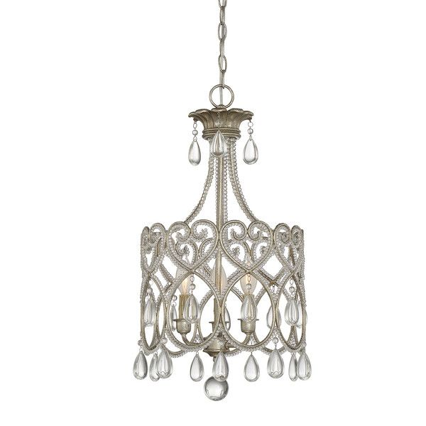 Matt 3 light crystal chandelier chandeliers mini chandelier and house of hampton borgen 3 light crystal chandelier aloadofball Images