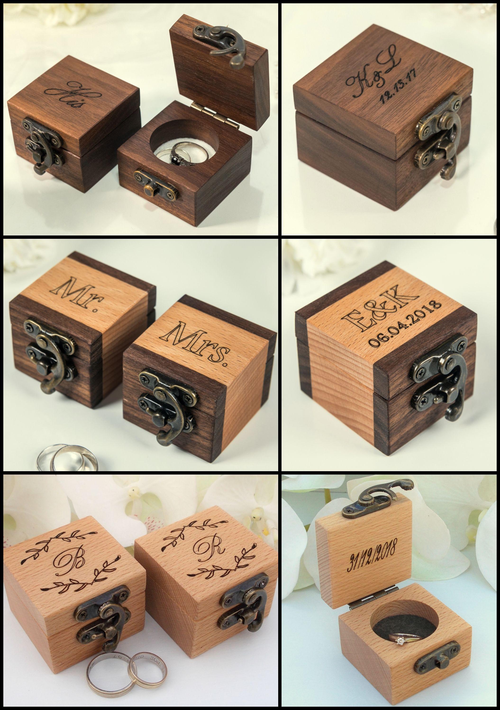Ring Box Wedding Ring Box Ring Bearer Box Engagement Ring Box Etsy In 2020 Wood Ring Box Wedding Ring Box Wood Ring Box