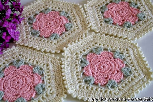 Ergahandmade Crochet Flower Motif Diagram Crochet Pinterest