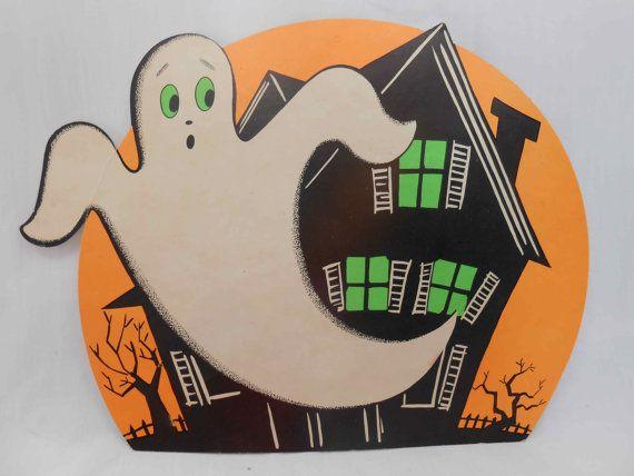 Vintage Halloween Ghost Die Cut