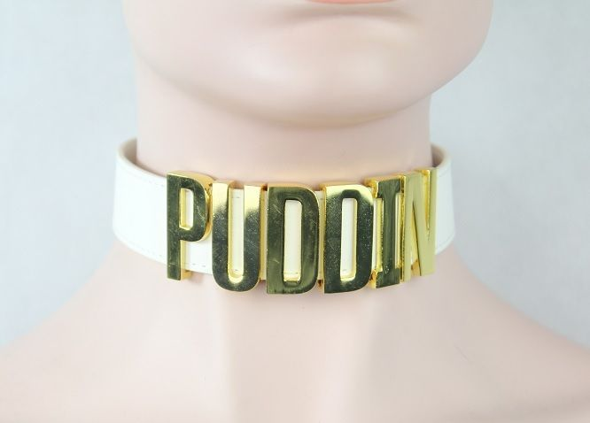 Harley Quinn CHOKER Suicide Squad Inspired collar Puddin Necklace Costume Rare