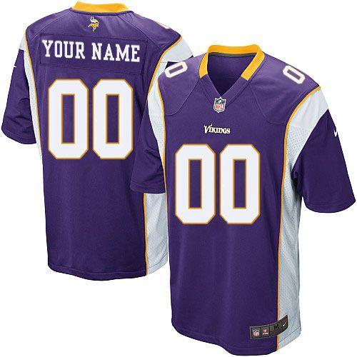 Nike Minnesota Vikings Customized Purple Stitched Elite Youth NFL Jersey 4828225b7