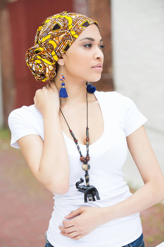 African head wrap, African clothing, African fabri