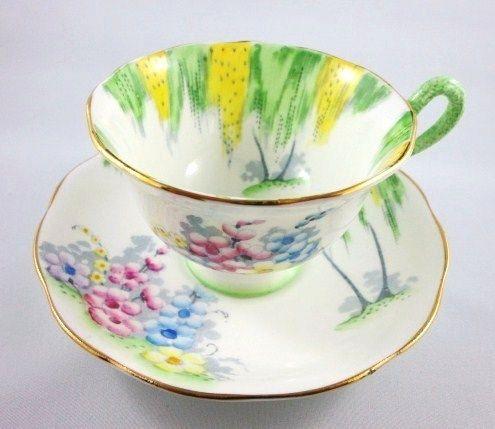 Handpainted Royal Albert Woodland Glen Tea Cup and Saucer Set