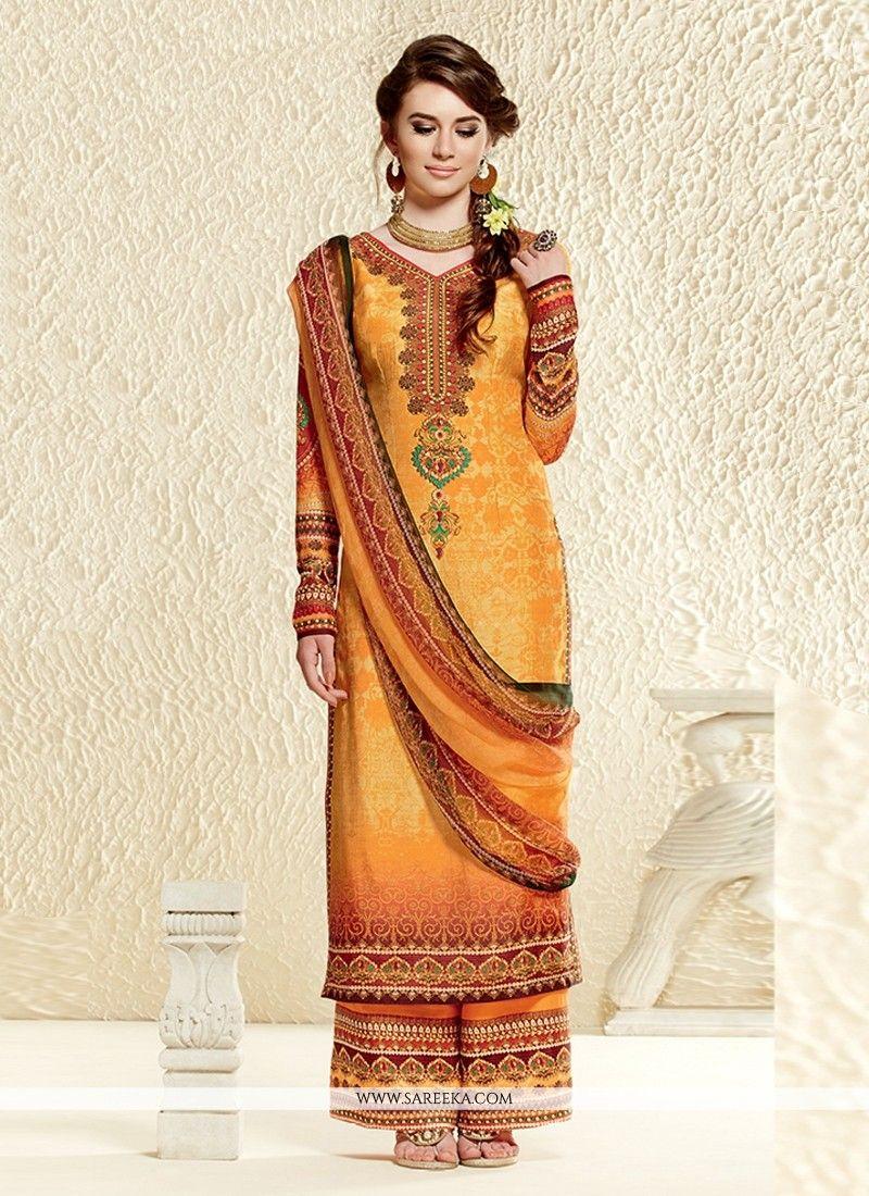 Mustard Cotton Silk Pakistani Suit | Pakistani suits, Pakistani ...