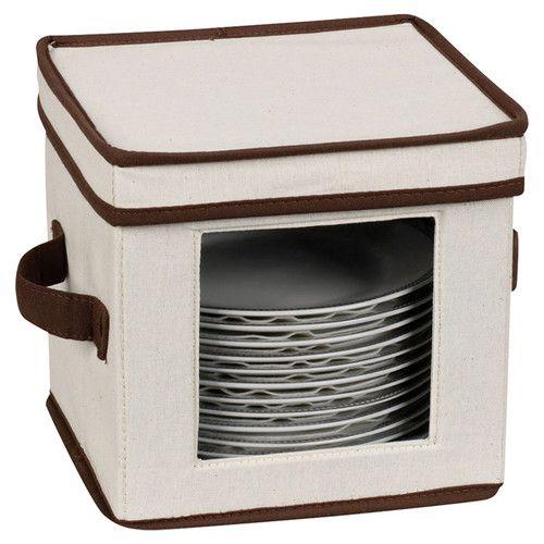 Household Essentials® Canvas Cube Storage Box - Natural With Coffee Trim Household Essentials® Canvas Cube Storage Box - Natural with Coffee Trim Storage And Organization wayfair storage and organization