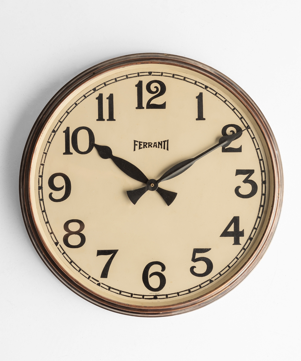 Factory Clock By Ferranti Obsolete Clock Wall Clock Glass Industrial Clock Wall