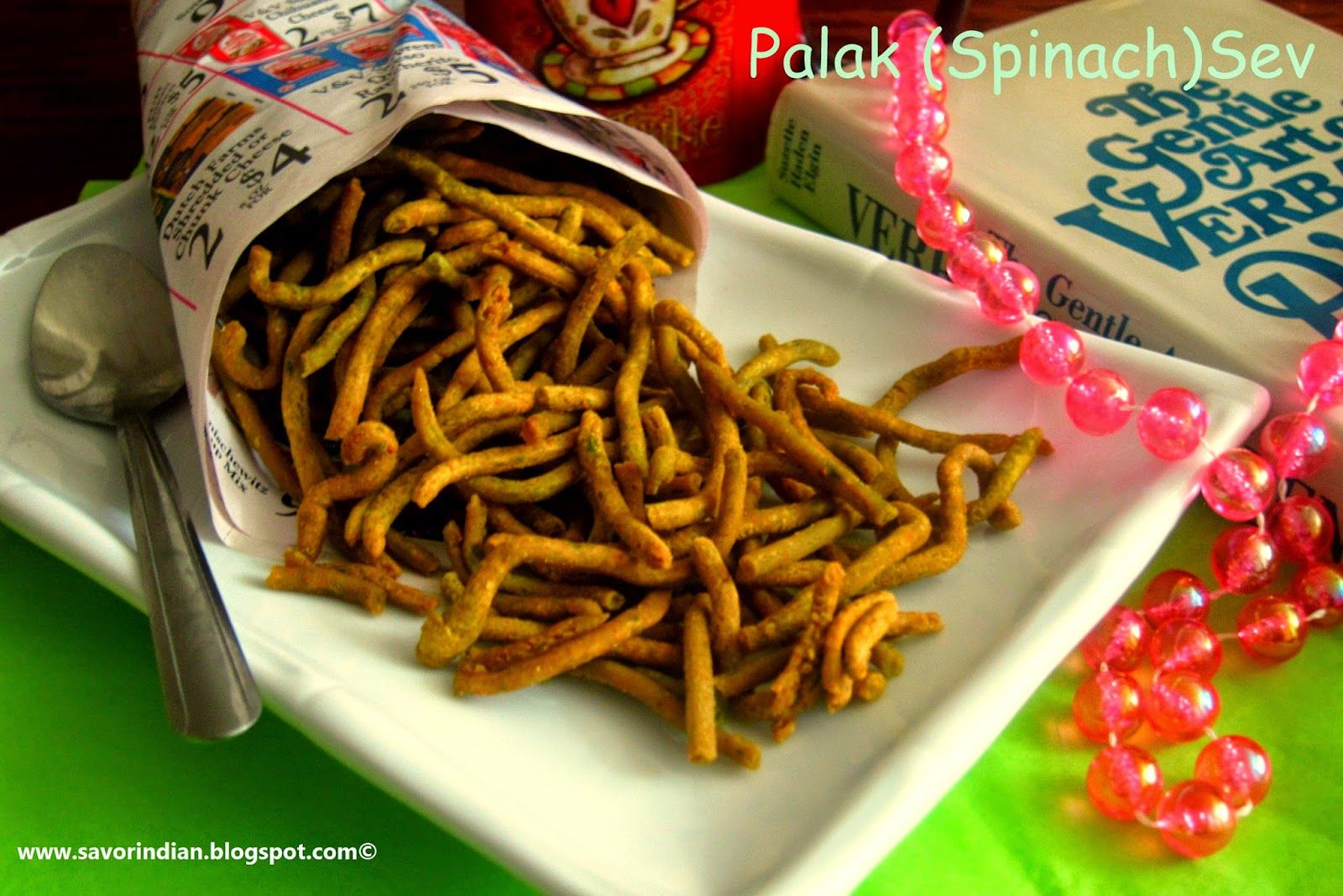 Crispy and Delicious Tea time /Festival Snack Item - Palak (Spinach ...