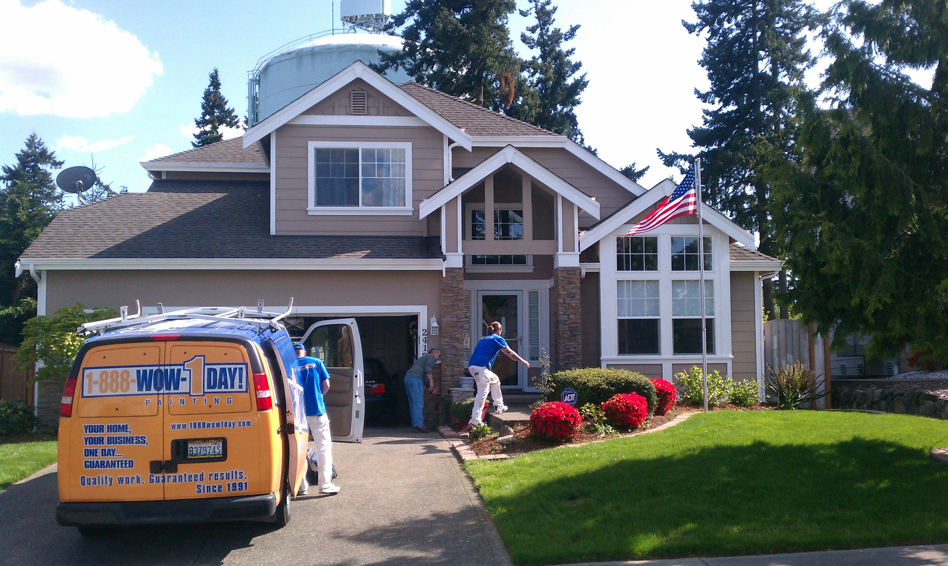 1-888-WOW-1DAY! Painting Seattle Franchise - Completed full exterior painting job in one day!